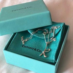 """TIFFANY & Co. - Elsa Peretti letter """"K"""" pendant"""